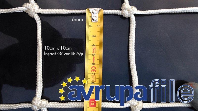 6mm Polyamid 10x10cm İnşaat Güvenlik Ağı Ölçüleri
